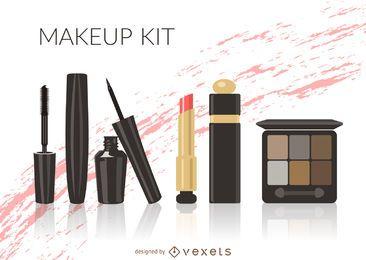 kit de maquillaje ilustrada