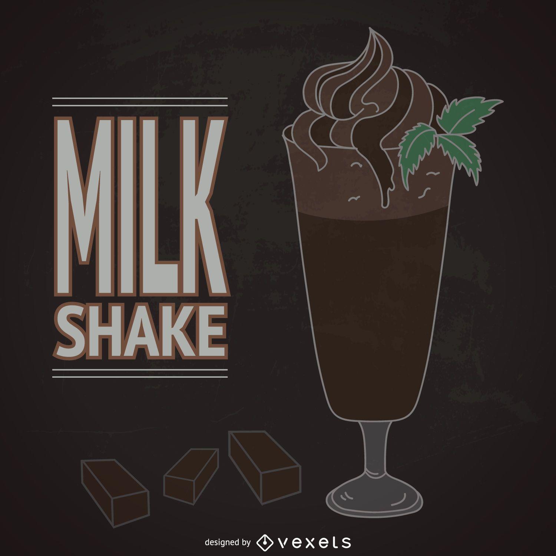 Chocolate milkshake illustration