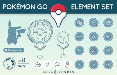 Conjunto de elementos Pokémon GO