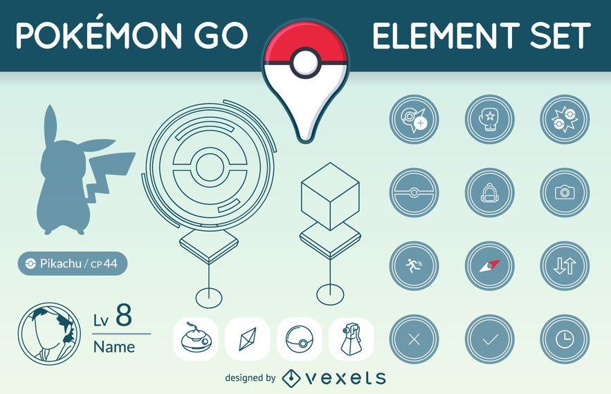 Conjunto de elementos de Pokémon GO