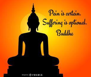 Silhueta de Buda com citação