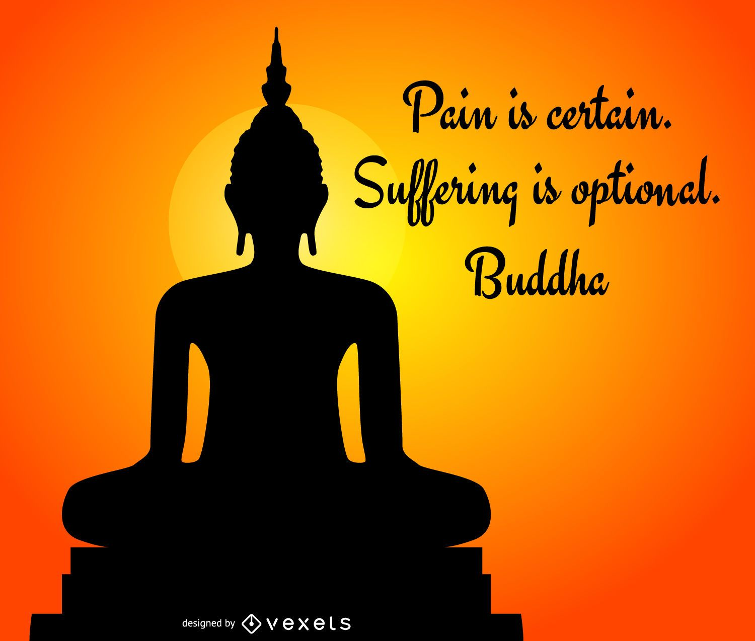 Buddha silhouette with quote