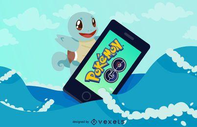 Ilustração de Pokémon GO Squirtle