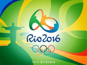 Colorful Rio 2016 banner