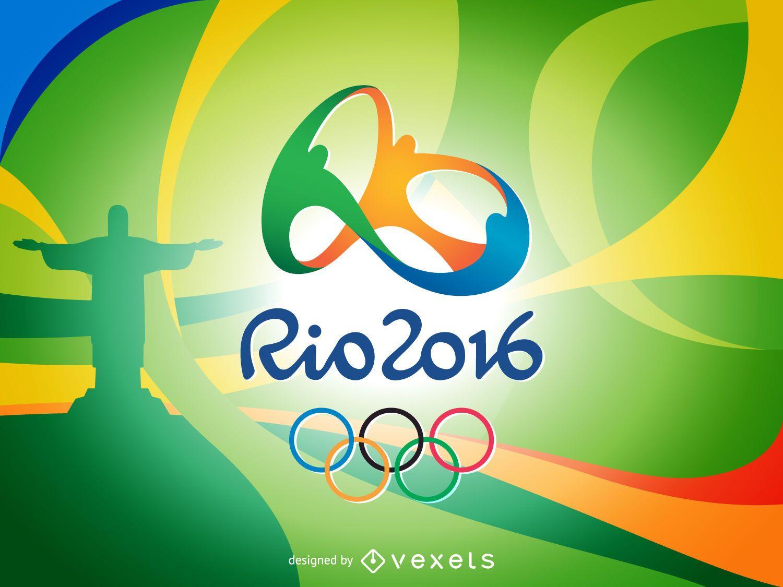 Colorful Rio 2016 banner