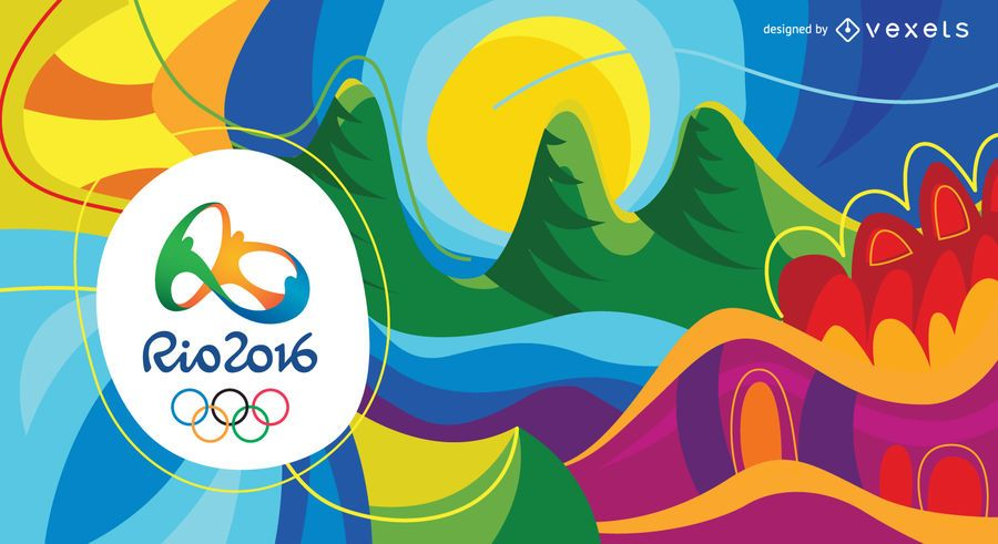 Colorful abstract Olympics Rio 2016 background