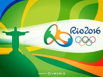 Rio 2016 wave banner