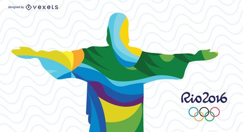 Rio Olympics Redeemer Christ abstract design