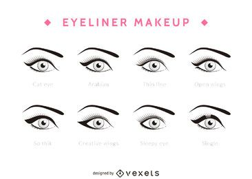 Types of eyeliner set