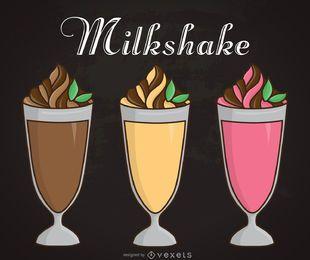 Milkshake desenho sabores