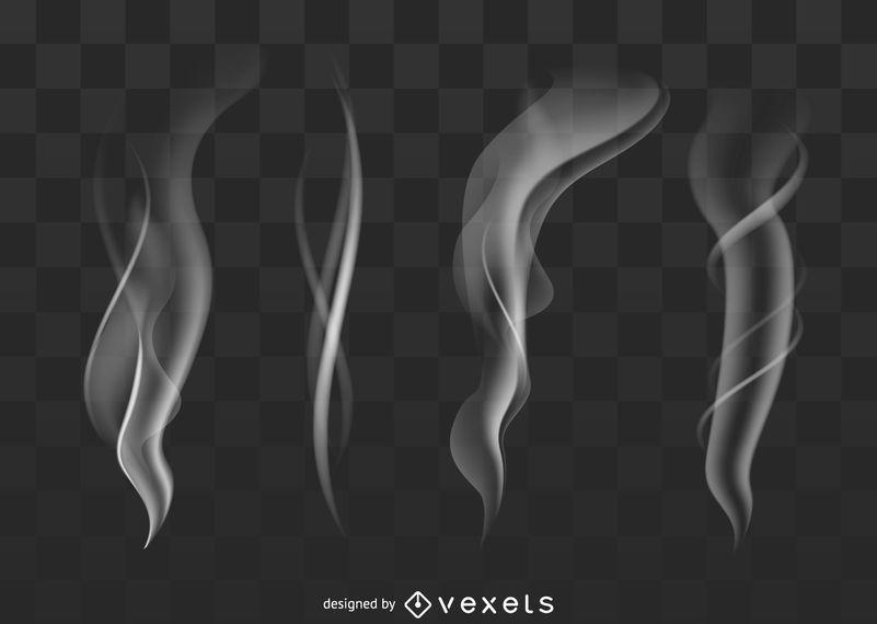 Transparent smoke set