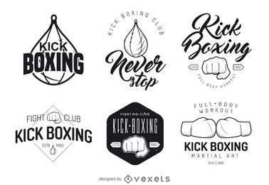 Kick-boxing logo template collection