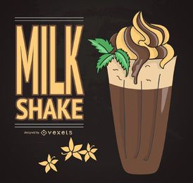Retro milkshake illustration