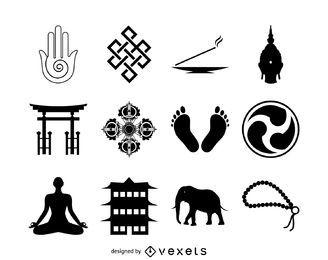 Colección de iconos del budismo