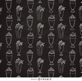 Hand drawn milkshake pattern