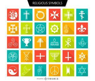 Religiöse Symbole gesetzt