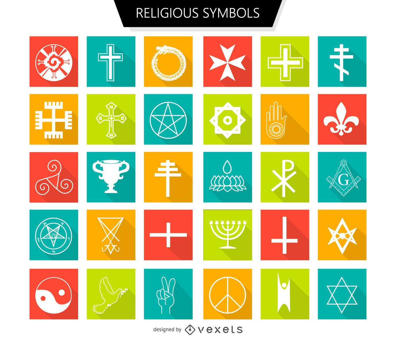 Religious symbols set