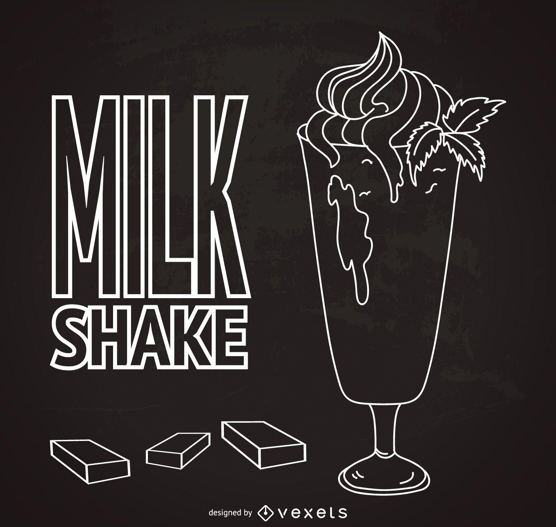 Hand drawn milkshake poster