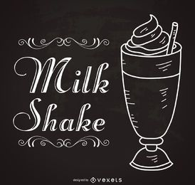 Retro milkshake sign