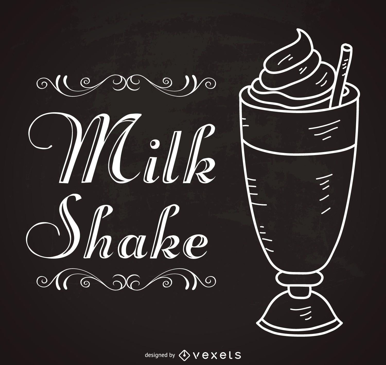 Retro milkshake sign