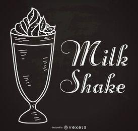 Cartaz de milkshake vintage