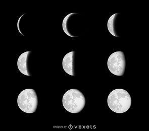 Phasen des Mondes