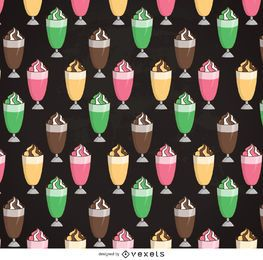 Illustrated milkshake pattern