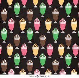 Padrão de milkshake ilustrado
