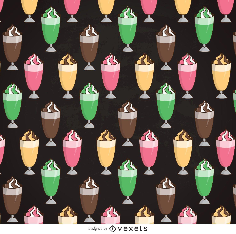 Padrão ilustrado de milkshake