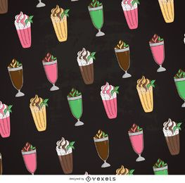 Milkshake illustration pattern