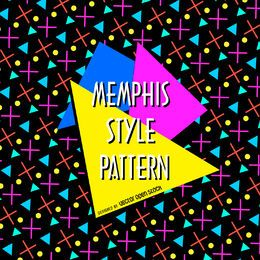 Bright memphis pattern