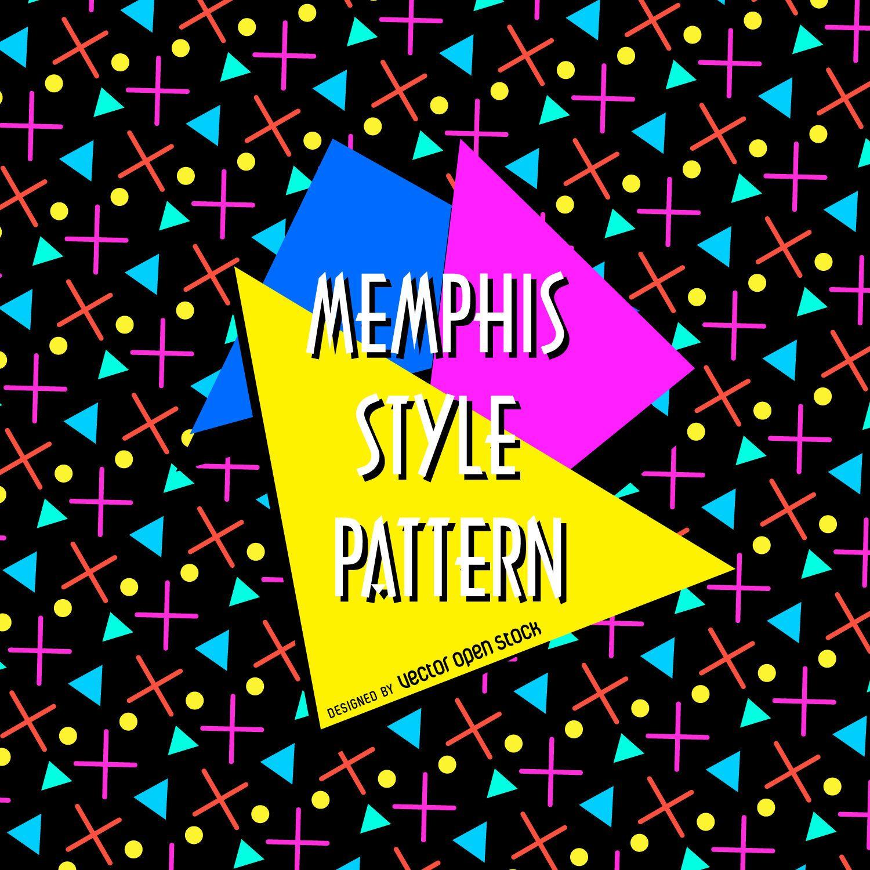 Bright memphis pattern