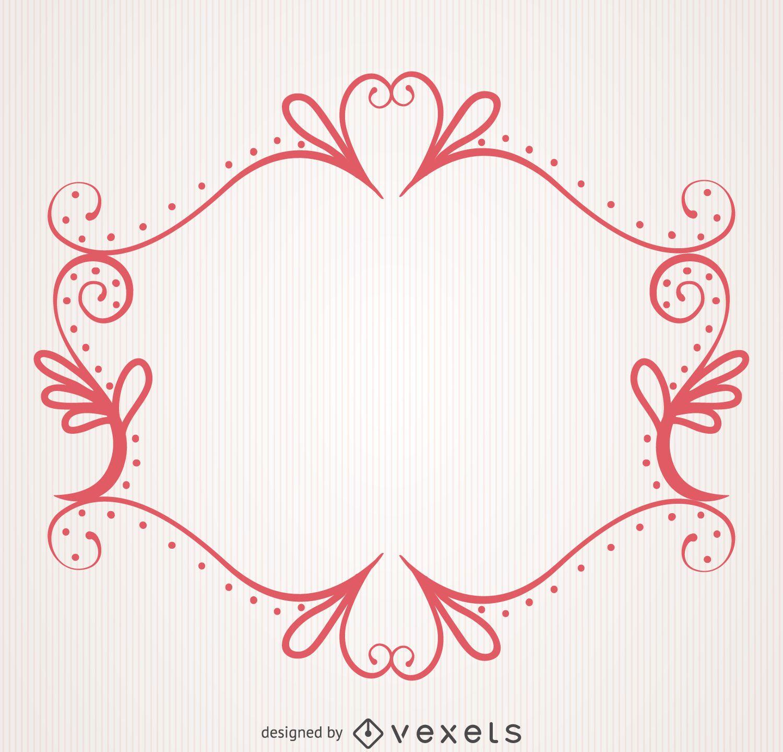Decorative swirly ornamental frame