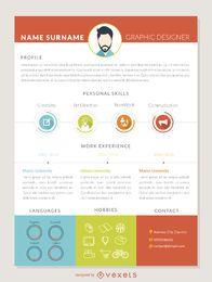 Graphic designer curriculum mockup template