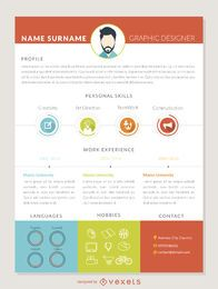 Plantilla de currículum de diseñador gráfico