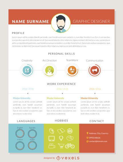 Graphic designer curriculum template