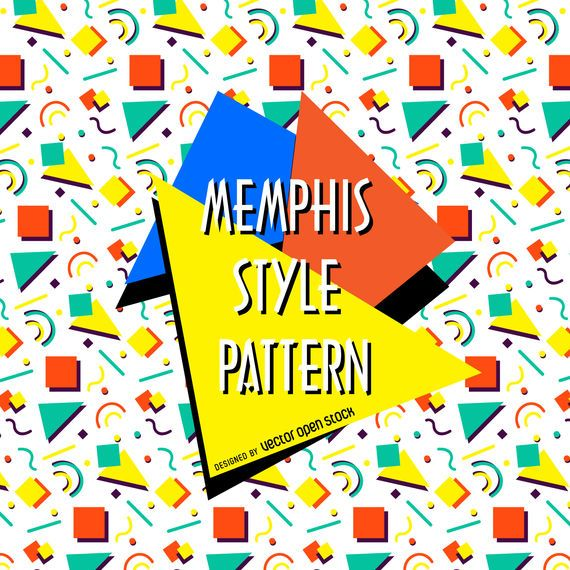 Colorful memphis style pattern
