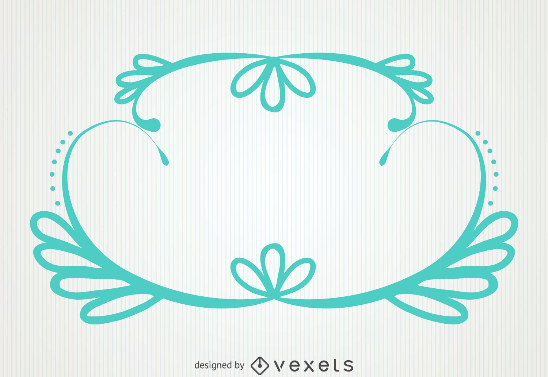 Marco verde en colores pastel ornamental - Descargar vector