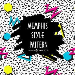 High contrast memphis pattern