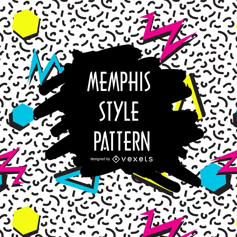 Kontrastreiches Memphis-Muster