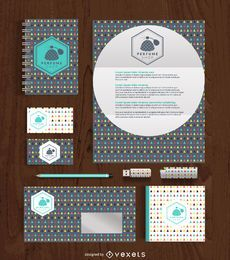 Office stationery supplies mockup