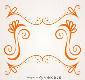 Moldura laranja com redemoinhos