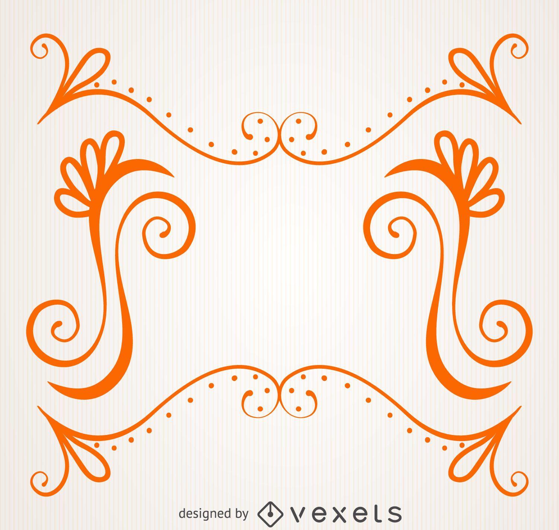 Orange frame with swirls