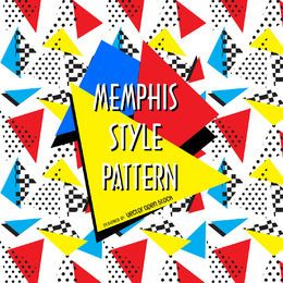 Geometric 90s memphis pattern