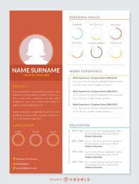 Modern CV mockup template