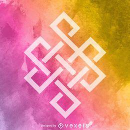 Ewiges Knoten Buddhismus-Symbol