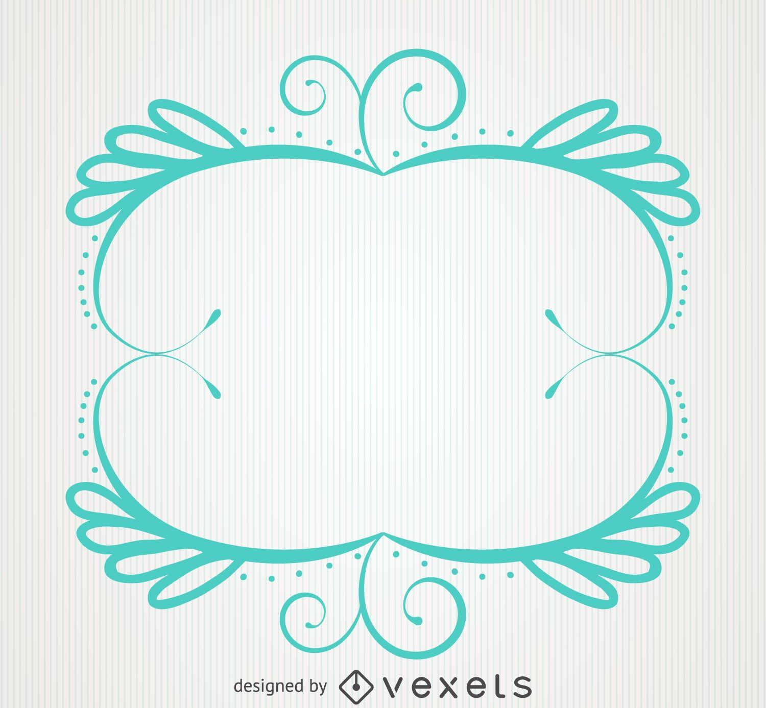 Floral Curly ornament frame