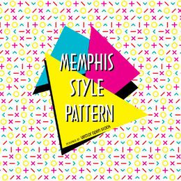 Bright memphis design pattern