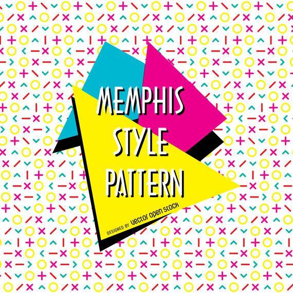 Bright memphis design pattern