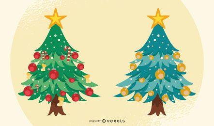 Vector de arboles de navidad